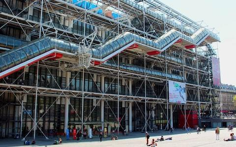 Make sure that you make a pitstop at the top of the Centre Pompidou