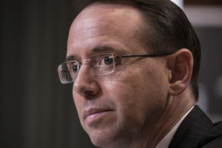 Deputy Attorney General Rod Rosenstein testifies before a Senate Appropriations subcommittee on Capitol Hill in Washington, Tuesday, June 13, 2017. (Photo: J. Scott Applewhite/AP)