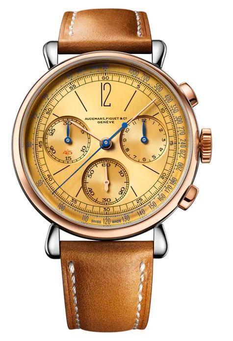 """<p>[Re]master01 Selfwinding Chronograph</p><p><a class=""""link rapid-noclick-resp"""" href=""""https://www.audemarspiguet.com/en/"""" rel=""""nofollow noopener"""" target=""""_blank"""" data-ylk=""""slk:SHOP"""">SHOP</a></p><p>Audemars Piguet rarely looks to its back catalogue. It has made an exception here, with a watch based on a 1943 chronograph. The two-tone steel and pink gold case with champagne dial is borrowed directly from the now-collectable original model, as is the old-school 'Audemars, Piguet & Co/ Genève' logo. Concessions to modernity include a revised dial for increased legibility and a glare-proof sapphire crystal case back. It is limited to 500 pieces.</p><p>£51,800; <a href=""""https://www.audemarspiguet.com/en/watch-collection/remaster/26595SR.OO.A032VE.01/#!/welcome"""" rel=""""nofollow noopener"""" target=""""_blank"""" data-ylk=""""slk:audemarspiguet.com"""" class=""""link rapid-noclick-resp"""">audemarspiguet.com</a></p>"""
