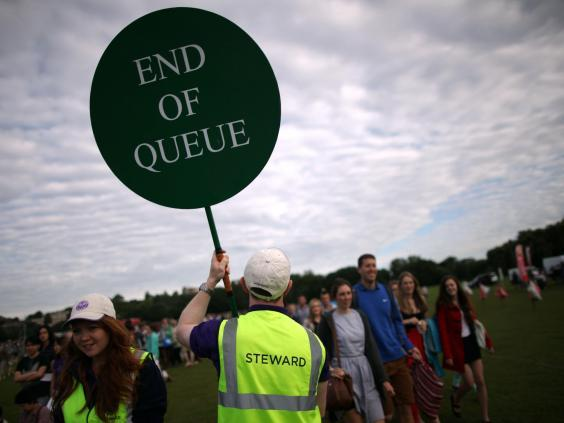 Queuing for Wimbledon is a time-honoured tradition (Getty )