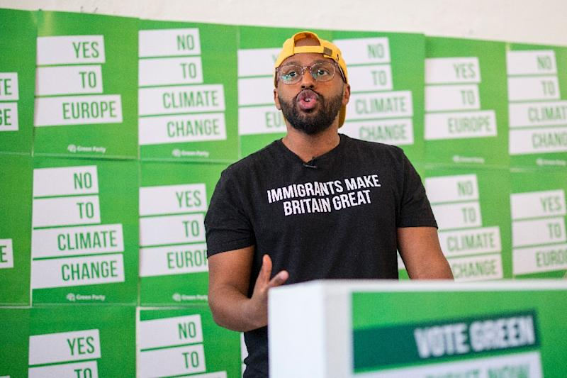 A child refugee from Somalia standing for the Greens, Magid Magid wants to be the voice of young people and refugees, though his chances of being elected are very slim (AFP Photo/Tolga Akmen)