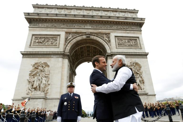 Indian Prime Minister Narendra Modi and French President Emmanuel Macron met in Paris last year