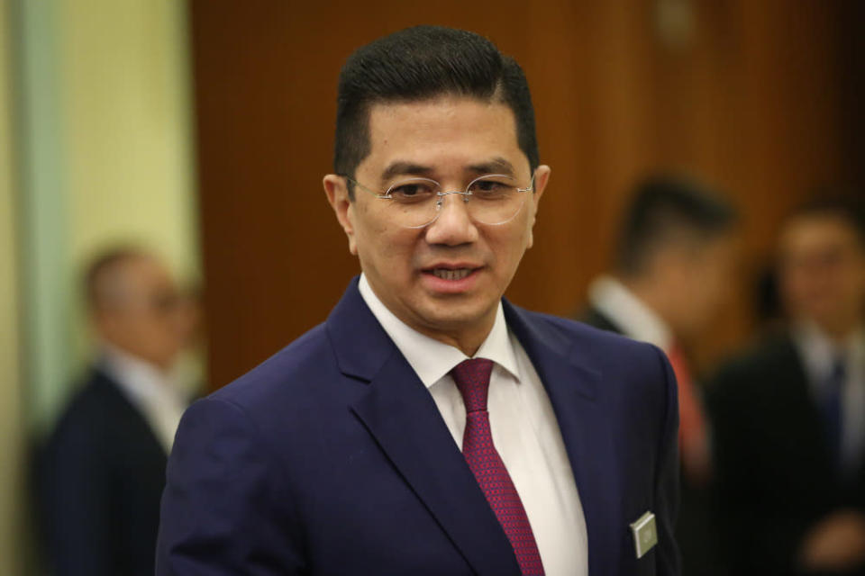 International Trade and Industry Minister Datuk Seri Mohamed Azmin Ali is pictured at the Prime Minister Office's in Putrajaya March 11, 2020. — Picture by Yusof Mat Isa