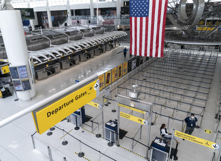Terminal 1 at John F. Kennedy International Airport in New York City. (Lev Radin/Pacific Press/LightRocket via Getty Images)