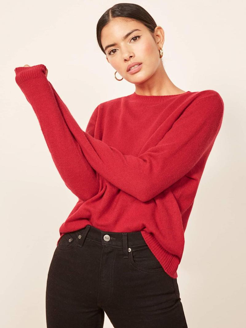Boxy sweater, £130 from Reformation (Reformation )