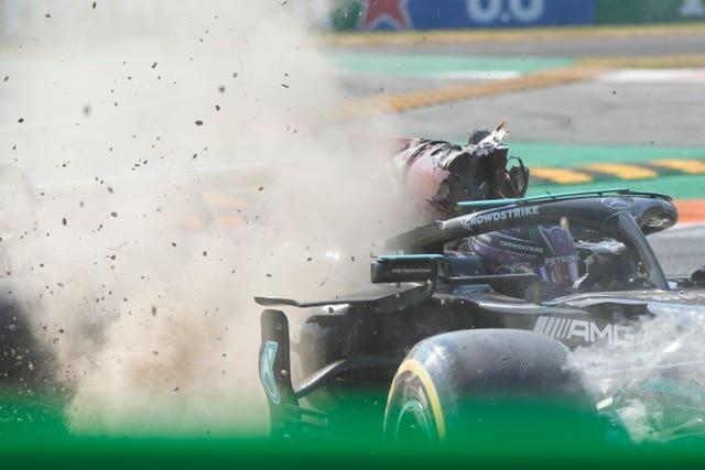 Lewis Hamilton and Max Verstappen exited the race after a crash