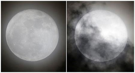 A combination of photographs shows a supermoon rising over Mexico City, Mexico October 16, 2016.  REUTERS/Henry Romero