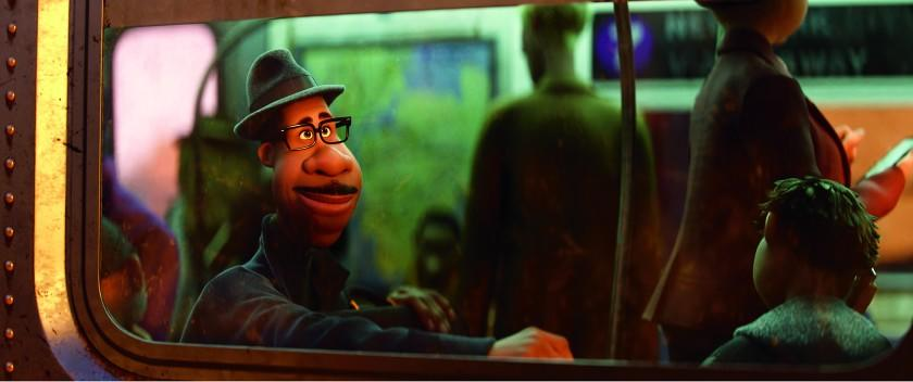 **HOLIDAY SNEAKS: A still from SOUL -The character of Joe Gardner. © 2020 Disney/Pixar. All Rights Reserved.