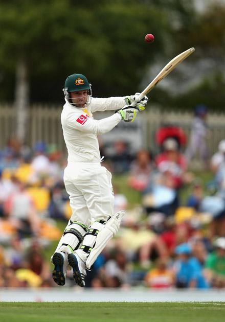 HOBART, AUSTRALIA - DECEMBER 14:  Phillip Hughes of Australia bats during day one of the First Test match between Australia and Sri Lanka at Blundstone Arena on December 14, 2012 in Hobart, Australia.  (Photo by Ryan Pierse/Getty Images)