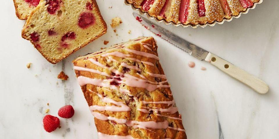 """<p>A colorful, sweet-tart treat is the perfect ending to any BBQ feast ... or for breakfast the next morning.</p><p><em><a href=""""https://www.goodhousekeeping.com/food-recipes/dessert/a38185/raspberry-lemon-pound-cake-recipe/"""" rel=""""nofollow noopener"""" target=""""_blank"""" data-ylk=""""slk:Get the recipe for Raspberry Lemon Pound Cake »"""" class=""""link rapid-noclick-resp"""">Get the recipe for Raspberry Lemon Pound Cake »</a></em> </p>"""