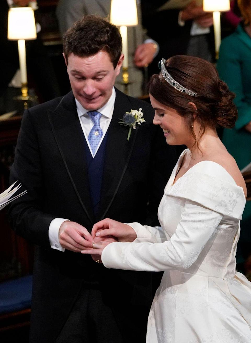 <p>Princess Eugenie announced her engagement to Jack Brooksbank in January 2018. The couple tied the knot in October 2018 with a big royal wedding in St. George's Chapel at Windsor Castle. </p>