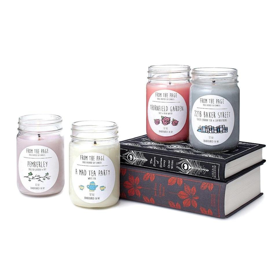 <p>The <span>Literary Candles</span> ($16) are the perfect companion for avid readers.</p>