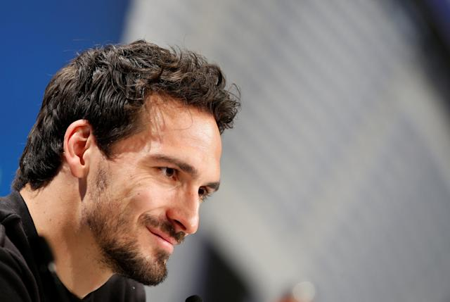 Soccer Football - Champions League - Bayern Munich Press Conference - Allianz Arena, Munich, Germany - February 19, 2018 Bayern Munich's Mats Hummels during the press conference REUTERS/Michaela Rehle
