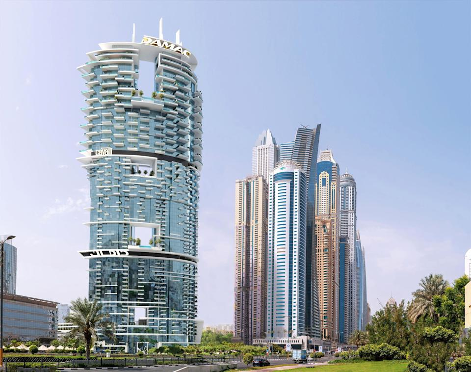 The Cavalli Tower residential complex set to open in the Dubai Marina. - Credit: Courtesy of Roberto Cavalli