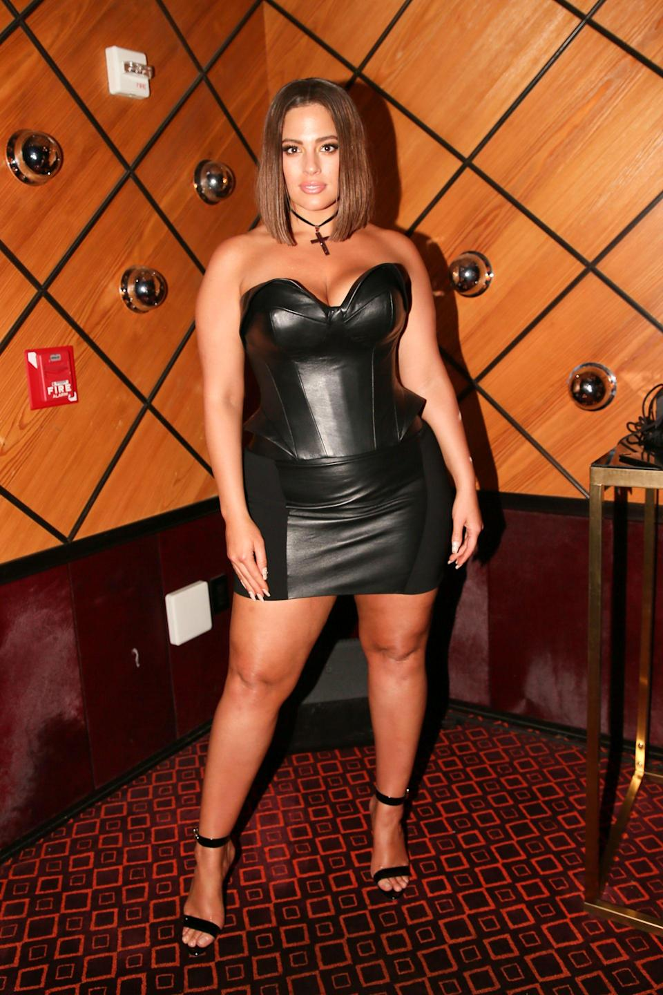 <p>Ashley Graham<br> The Standard and Olivier Rousteing host The Boom Boom Afterparty, New York, USA – 07 May 2018<br> (Photo: Shutterstock) </p>