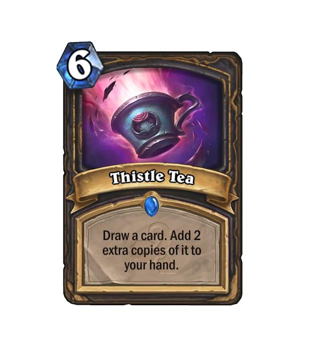 <p>Three of the best cards in your deck, or three Wisps. The only way you'll find out which way it goes is by chugging some Tea.</p>
