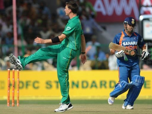 Out of luck: Dale Steyn had a frustrating time as Sachin Tendulkar scored the first ODI double century