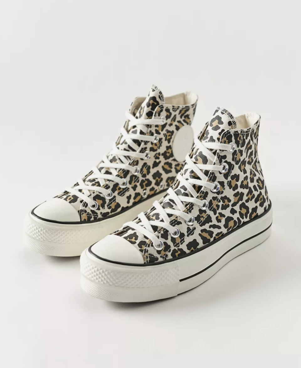 Converse Chuck Taylor All Star Canvas Platform High Top Sneaker in Leopard (Photo via Urban Outfitters)