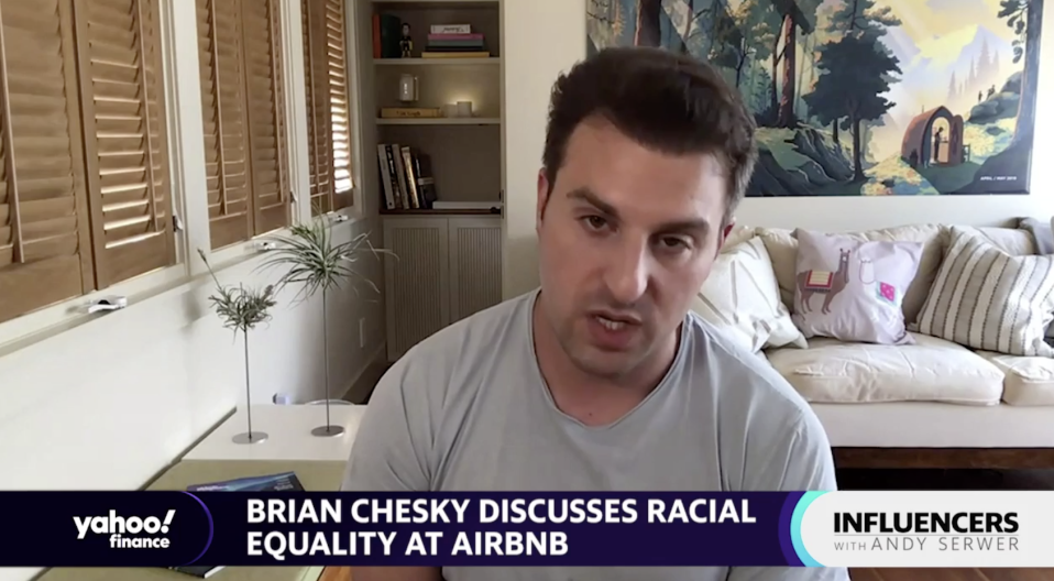 "Airbnb CEO Brian Chesky joins ""Influencers with Andy Sewer."""