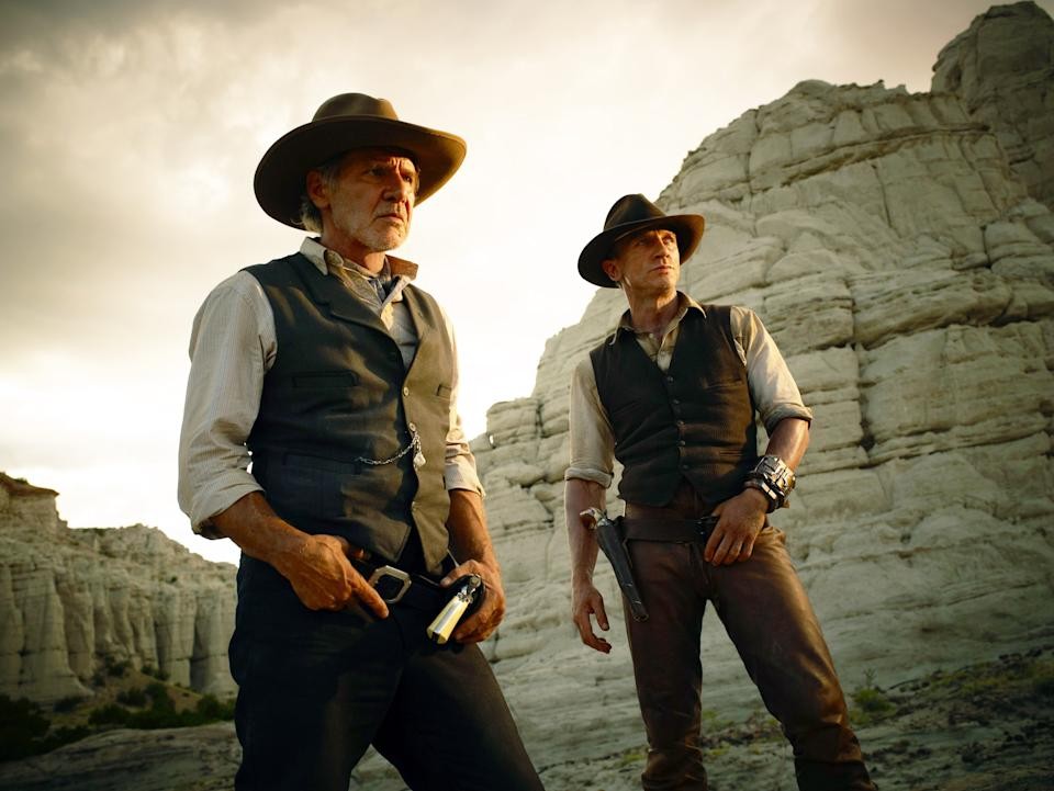 Harrison Ford and Daniel Craig in 'Cowboys & Aliens' (Photo: Timothy White/©Universal Pictures/Courtesy Everett Collection)