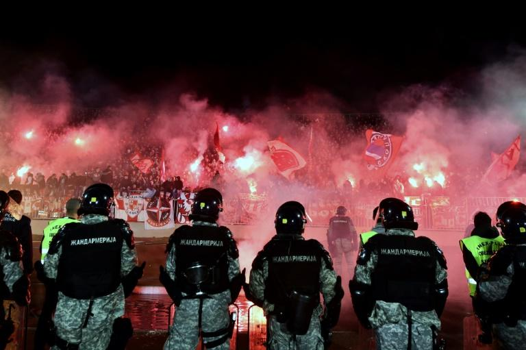 "Nowadays the ""Eternal Derby"" between Belgrade's Partizan and Red Star has become a pretext for clashes between supporters of the rival teams"