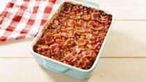 """<p>These will SLAY at your next BBQ.</p><p>Get the recipe from <a href=""""https://www.delish.com/cooking/recipe-ideas/a21648405/best-baked-beans-recipe/"""" rel=""""nofollow noopener"""" target=""""_blank"""" data-ylk=""""slk:Delish."""" class=""""link rapid-noclick-resp"""">Delish.</a></p>"""