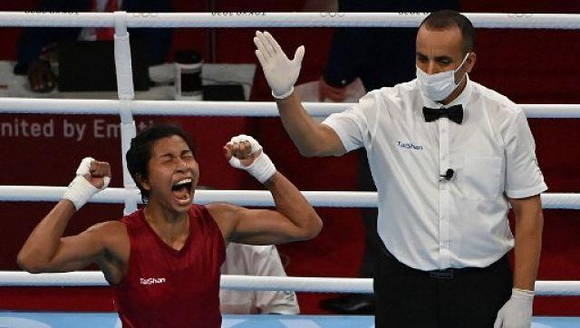 Boxer Lovlina Borgohain confirmed India' second medal at Tokyo 2020 when she beat Chinese Taipei's Nien-Chin Chen in the quarter-final of the women's welterweight category. AFP