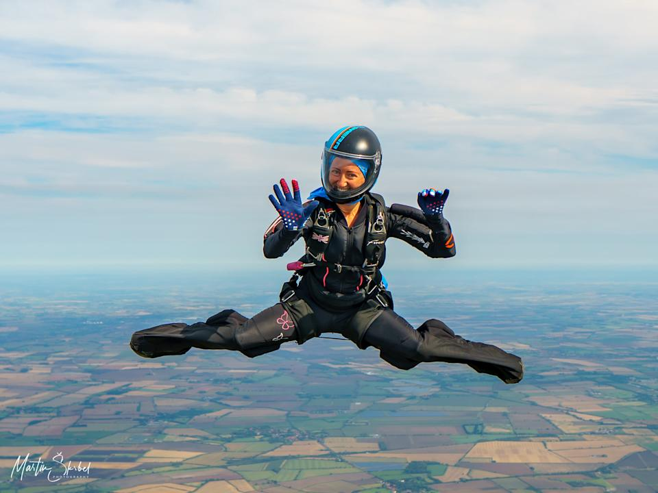 Laura Hampton was disappointed when the Sky Diving championships were cancelled. (Martin Skrbel at Skydive Langar)