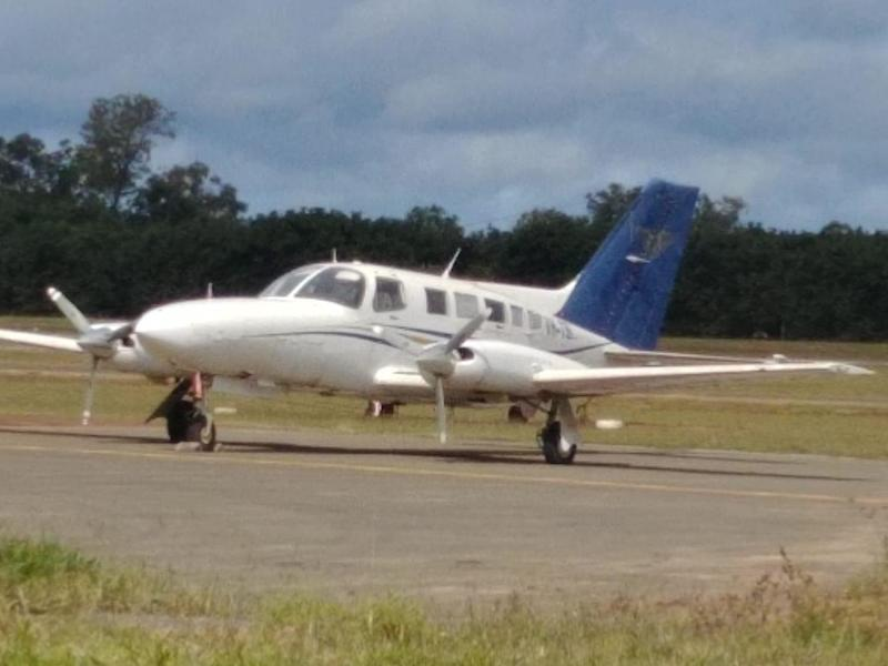The Cessna light aircraft used by the alleged drug smugglers: Australian Federal Police