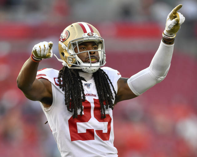 Niners quarterback Richard Sherman is Pro Football Focus' top coverage defender in the NFL in 2019. (Photo by Roy K. Miller/Icon Sportswire via Getty Images)