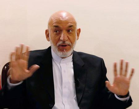 Former Afghan president Hamid Karzai speaks during an interview in Kabul, Afghanistan September 13, 2016. Picture taken on September 13, 2016.REUTERS/Omar Sobhani