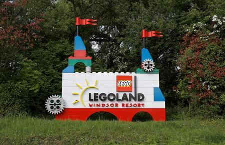 FILE PHOTO: The LEGOLAND entrance is seen in Windsor, Britain May 10, 2018.  REUTERS/Peter Nicholls/File Photo
