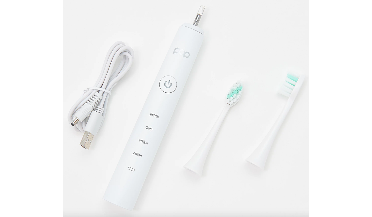 Enjoy two minutes in toothbrush heaven with Pop Sonic. (Photo: QVC)