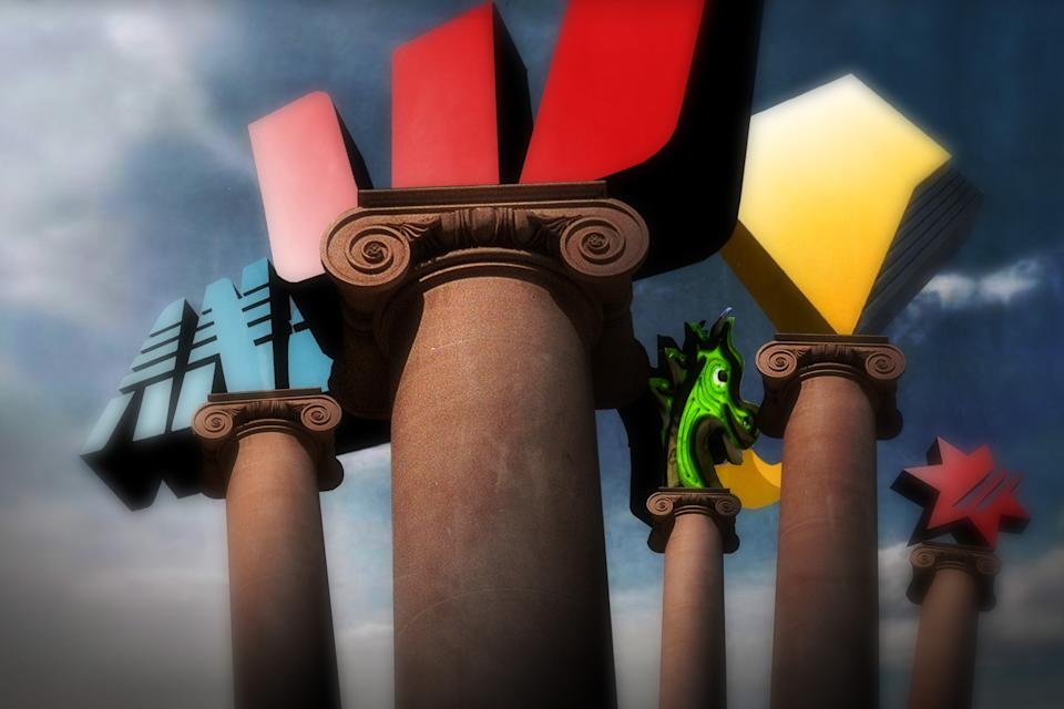 (AUSTRALIA OUT) Generic Westpac, ANZ, NAB, CBA, St. George, 15 May 2006. AFR Picture-Illustration by KARL HILZINGER. Note: This image has been digitally manipulated. (Photo by Fairfax Media via Getty Images via Getty Images)