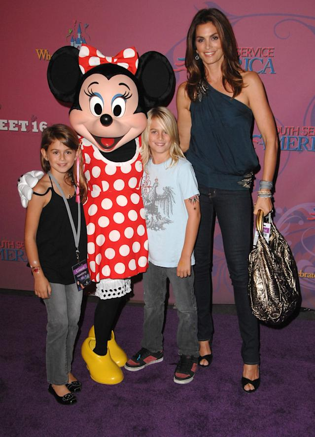 Now Kaia and Presley Gerber are models, but back then Cindy Crawford's kids were just Miley Cyrus superfans. (Photo: Steve Granitz/WireImage)