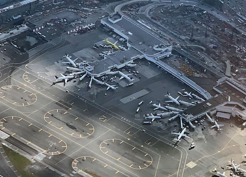 An aerial view of Laguardia Airport as photographed on November 10, 2018 in New York City. (Photo: Bruce Bennett/Getty Images)