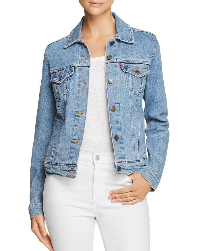 """<p>Everyone needs a staple denim jacket. While we've seen seasons past dominated by bomber or cropped styles, we're noticing a return to the ol' classic this year—and there's nothing more classic than Levi's. With this gift, the woman in your life will be as chic as she is comfortable as temps get cooler, and the jacket's soft fabric means she can layer sweaters or hoodies underneath as we approach winter.</p> <p><strong>To buy:</strong> $90; <a href=""""https://click.linksynergy.com/deeplink?id=93xLBvPhAeE&mid=13867&murl=https%3A%2F%2Fwww.bloomingdales.com%2Fshop%2Fproduct%2Flevis-original-trucker-denim-jacket-in-throw-elbows%3FID%3D3082868%26pla_country%3DUS%26cm_mmc%3DGoogle-PLA-ADC-_-Designer-NA-_-Levi%2527s-_-190416313013USA%26CAWELAID%3D120156070007911119%26CAGPSPN%3Dpla%26CAAGID%3D47685646039%26CATCI%3Daud-352493818487%3Apla-383171954568%26CATARGETID%3D120156070006131860%26cadevice%3Dc%26gclid%3DCjwKCAjwy7vlBRACEiwAZvdx9g4KPQgUvuYeMXdVjdq41J0UILf-UQCL4ZklJoGa3h9ifZ12zadtLRoCjdwQAvD_BwE&u1=RS%2CGiftIdeasforWomen%2Cdarganb%2CGIF%2CIMA%2C630086%2C201909%2CI"""" target=""""_blank"""">bloomingdales.com</a>.</p>"""