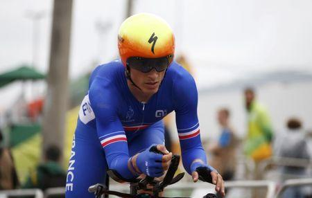 2016 Rio Olympics - Cycling Road - Final - Men's Individual Time Trial - Pontal - Rio de Janeiro, Brazil - 10/08/2016. Julian Alaphilippe (FRA) of France competes. REUTERS/Eric Gaillard