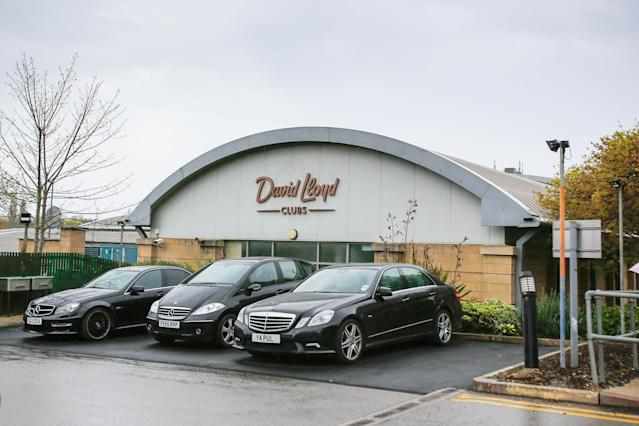 The David Lloyd Gym in Leeds where Rocco Wright drowned despite his father's desperate attempts to try and save him (SWNS)