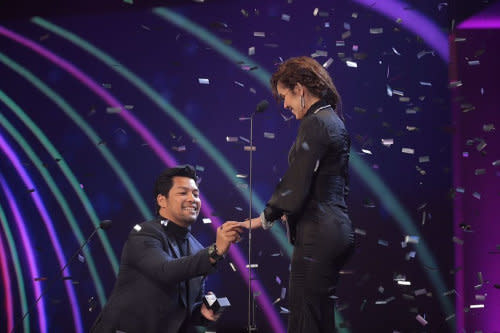 The very public proposal that got everyone crazy and excited over