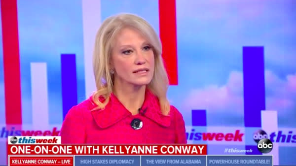 "White House counselor Kellyanne Conway appeared on ABC News' ""This Week"" on Monday morning and addressed the recent sexual misconduct allegations against Republican Senate nominee Roy Moore of Alabama."