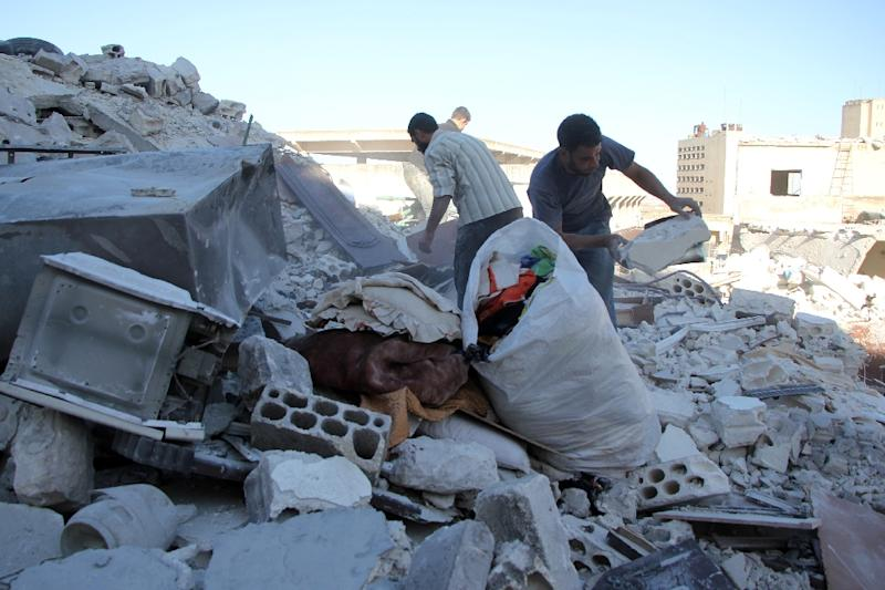 Once Syria's economic powerhouse, Aleppo has been ravaged by the war that has killed more than 300,000 since it began in March 2011 (AFP Photo/Omar Haj Kadour)