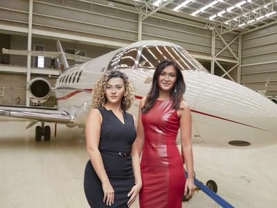 Eclipse Air Charter's Managing Director Yasmin Alam (right) and Director of Charter Sales Lily Karapetyan (left). (CNW Group/Eclipse Air Charter)