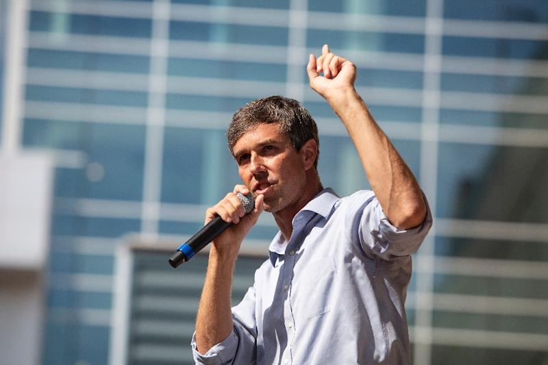 US Representative Beto O'Rourke (D-TX), a former punk rocker, is running for the US Senate against incumbent Ted Cruz in a closely watched race in Texas (AFP Photo/Laura Buckman)