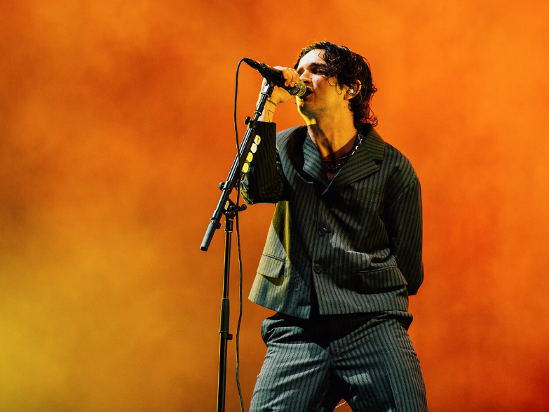The right side of simpering: Matt Healy of The 1975 at Reading Festival 2019: Charles Reagan