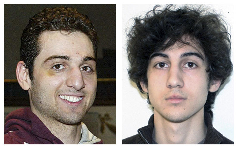 FILE - This combination of file photos shows brothers Tamerlan, left, and Dzhokhar Tsarnaev, suspects in the Boston Marathon bombings on April 15, 2013. Tamerlan Tsarnaev died after a gunfight with police several days later, and Dzhokhar Tsarnaev, was captured and is held in a federal prison on charges of using a weapon of mass destruction. On Thursday, Jan. 30, 2014, U.S. Attorney General Eric Holder authorized the government to seek the death penalty in the case against Dzhokhar Tsarnaev. Opposition to the death penalty runs deep in liberal Massachusetts. In a Boston Globe survey in September 2013, 57 percent of Massachusetts residents polled favored life in prison for Dzhokhar Tsarnaev, while 33 percent favored execution. (AP Photos/Lowell Sun and FBI, File)