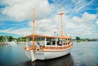 """<p>If Greece is more your type of place, head to Tarpon Springs. The Florida city has the <a href=""""https://usa.greekreporter.com/2019/03/01/tarpon-springs-the-greek-island-of-the-united-states/"""" rel=""""nofollow noopener"""" target=""""_blank"""" data-ylk=""""slk:highest concentration of Greek-Americans"""" class=""""link rapid-noclick-resp"""">highest concentration of Greek-Americans</a> in the U.S. since Greek immigrants built the city's signature sponge industry, giving the whole place a heavy Greek influence. Many people speak Greece in their homes, and Greek restaurants line the docks, making you feel like you're actually in Athens or Santorini. </p>"""