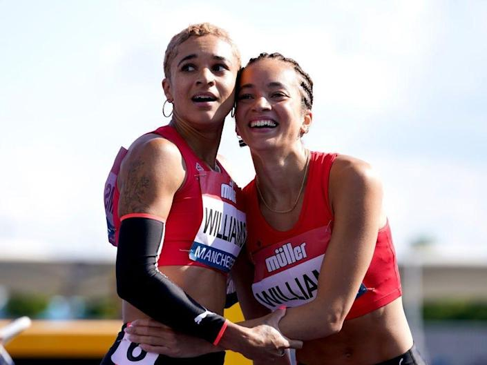 Jodie Williams and Hannah Williams embrace