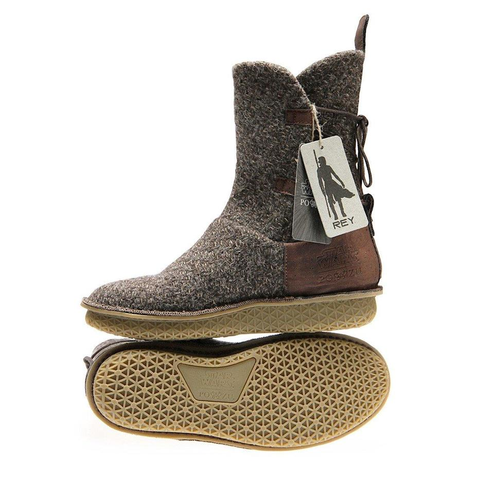 <p>It's a 100% Vegetarian boot made from artisan tweed with adjustable calf/rear lace-up system and cork details. A built-in shock absorbing coconut fibre Foot-Mattress combines with a highly flexible natural rubber sole. (Po-Zu) </p>