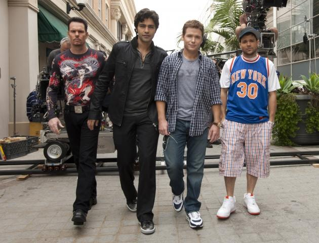 """Kevin Dillon, Adrian Grenier, Kevin Connolly and Jerry Ferrara in """"Entourage"""" --"""